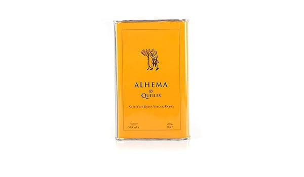 Alhema de Queiles, ecológico. Aceite de oliva coupage, Caja de 4 latas de 3 L: Amazon.es: Alimentación y bebidas