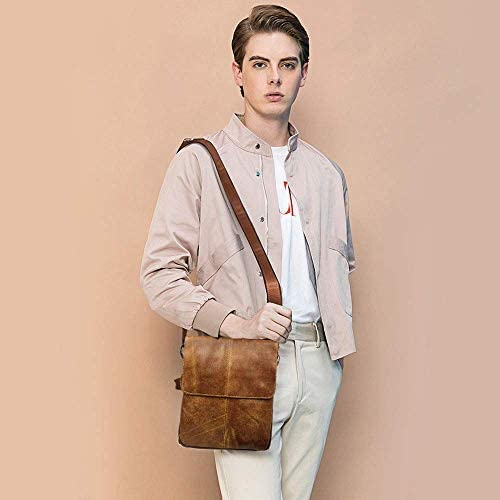 1940s UK and Europe Men's Clothing – WW2, Swing Dance, Goodwin BAIGIO Vintage Leather Shoulder Messenger Bag for Men Adjustable Crossbody Satchel Handbag for Work School Business Travel £25.99 AT vintagedancer.com