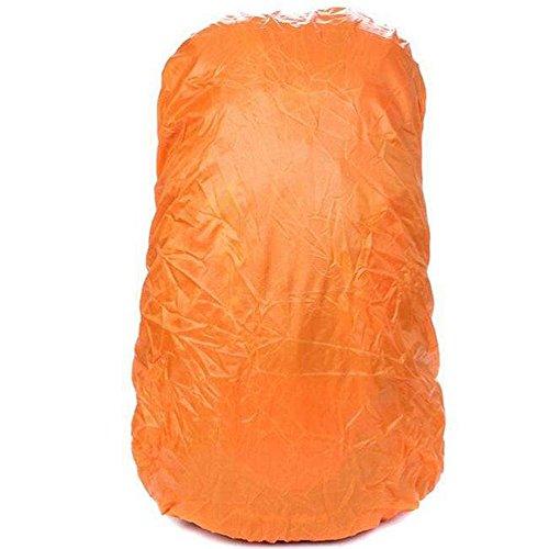 XINW Wasserdicht Rucksack Cover Abdeckung Regenhülle Regenschutz Schutzhülle für Camping und Outdoor,Orange,L