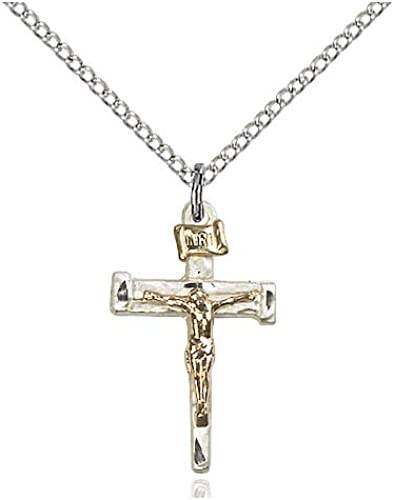 DiamondJewelryNY Sterling Silver Crucifix Pendant