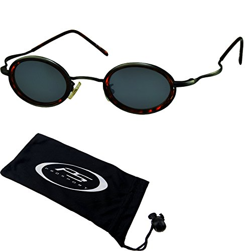 eb34d6be0b good Small round vintage retro 70s Sunglasses. Free Microfiber Cleaning  Case Included.