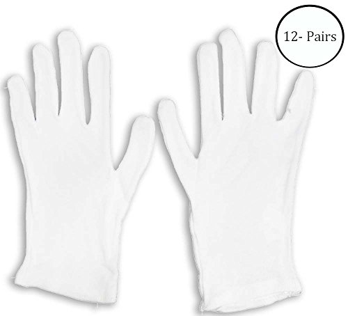 - Hawk Men's Large 100% Cotton Lisle Inspection Gloves: GL-07400-Z12 : ( Pack of 12 pairs )