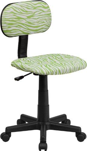 Flash Furniture Green and White Zebra Print Swivel Task Chair by Flash Furniture