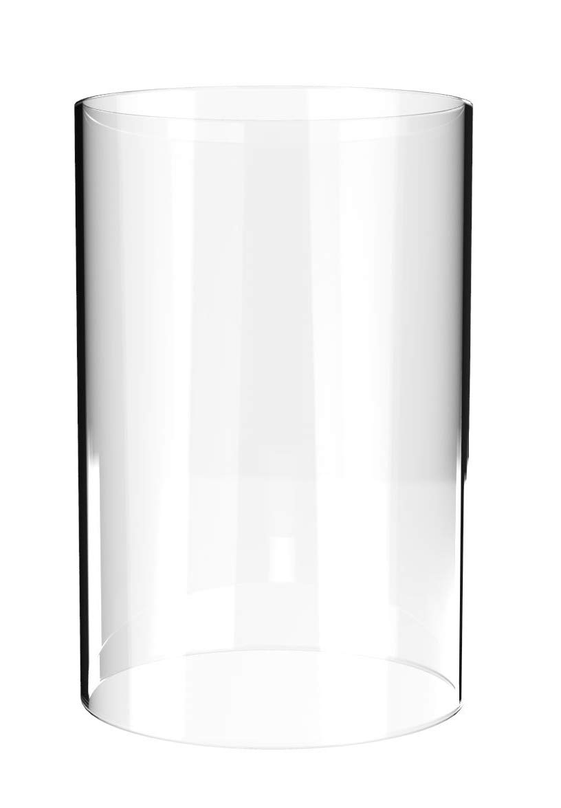 AMAYON Borosilicate Glass Lampshade Candles Diameter 4'',Height 8''- Suitable for Most Popular Candles- Glasses Holder-