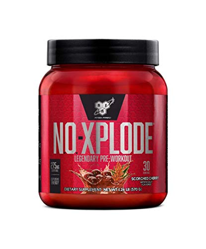 BSN N.O.-XPLODE Pre-workout Supplement With Creatine, Beta-alanine, and Energy, Flavor: Scorched Cherry, 30 Servings