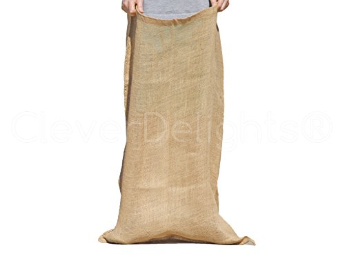10 Pack - CleverDelights Premium Burlap Bag - 23
