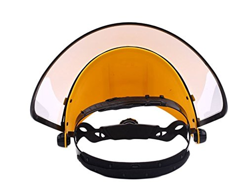 Safety Works Adjustable Headgear Face shield with Visor Mask Clear Face and Head Coverage Polycarbonate Used for - Light Construction, General Manufacturing, Cutting Metal, Cutting Wood (TL-1021) by JEWELS FASHION (Image #1)