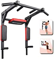 Pull Up Bar Wall Mounted Chin Up Bar Dip Stand Power Tower Multifunctional Workout Equipment Strength Training
