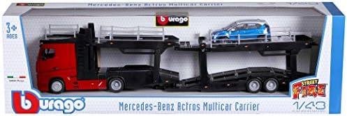 Burago Mercedes Benz Actros Car Transporter With Renault