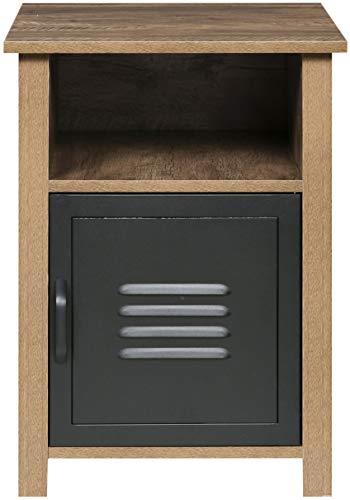 OneSpace 50-JN23ET Norwood Range Locker End Table Oak