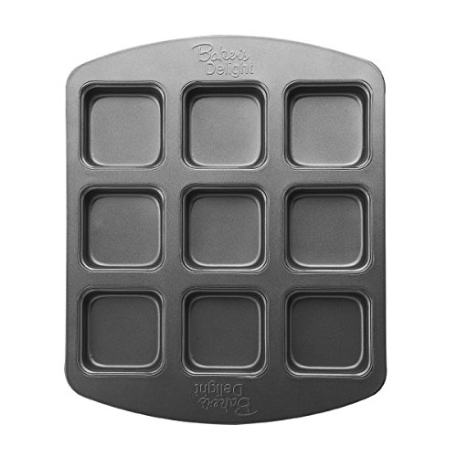 Baker's Advantage Nonstick Brownie Bar Pan, 9-Cavity -