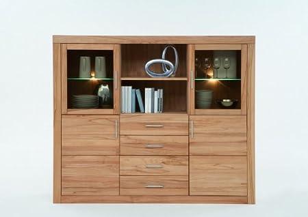 La Credenza Uk : High board sideboard credenza solid beech heartwood: amazon.co.uk