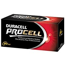 P & G/ Duracell 85695 Bulk ProCell Batteries-12PK 9V PROCELL BATTERY