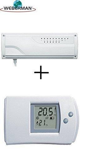 Receptor de radio normalmente terminales F. suelo radiante + Digital Termostato