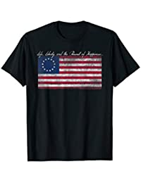 85d40f463128 Life, Liberty, and the Pursuit of Happiness Flag T-Shirt