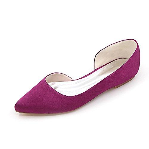 de 08 Zapatos Raso D2046 Las Tac Mujeres Wedding Elobaby de nHWwxZOTw