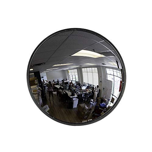 "12"" Acrylic Convex Mirror, Round Indoor Security Mirror for the Garage Blind Spot, Store Safety, Warehouse Side View, and More, Circular Wall Mirror for Personal or Office Use – Vision Metalizers"