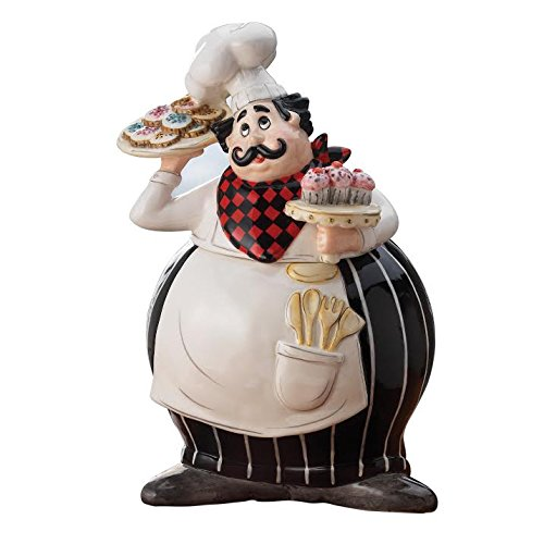 American Atelier Boun Appetito Chef Cookie Jar, (Chef Cookie Jar)