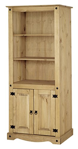 Mews Corona 2 Door Bookcase, Mexican Pine