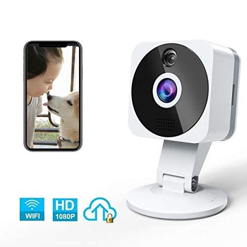 ZZCP Camaras de Seguridad WiFi Inalambricas, HD 1080P Camaras de Vigilancia con Vision Nocturna, Audio de 2 Vías, Sensor Movimiento y Cloud, Camara IP Interior para Bebe/Ancianos/Mascota Mon