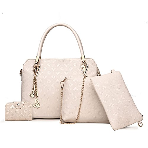 PU Bag Hobos White Leather Women's Bag Handbags Tote Handle Shoulder Top Off Bags Satchel Crossbody Pxpvdxq