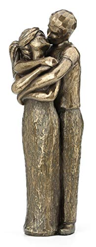 Soulmates Lovers Kissing Sculpture - Perfect Wedding Anniversary Gift