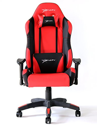High Back Computer Gaming Office Chair With Headrest and Lum