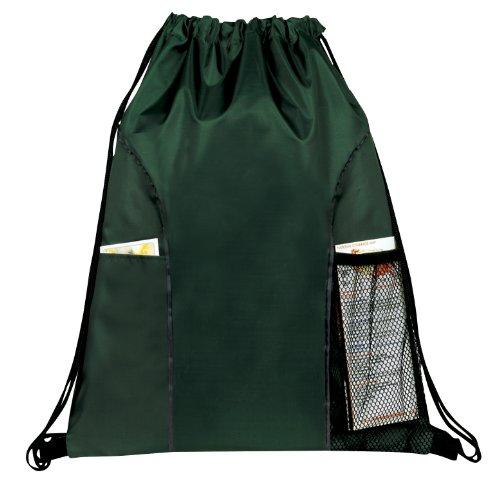 Dual Pocket Drawstring Backpack LESSTM