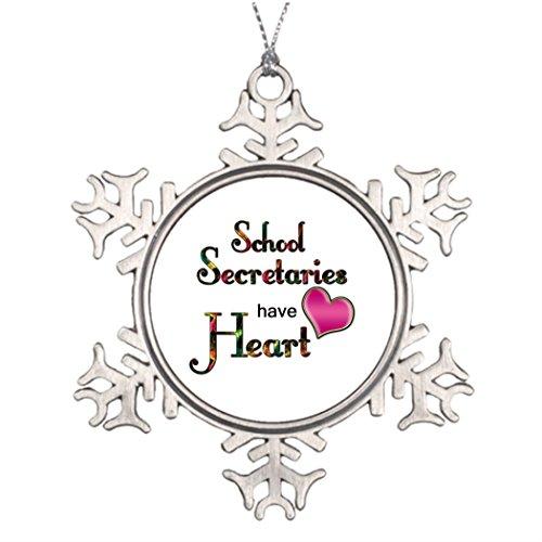 TPerse8 Personalised Christmas Tree Decoration School Secretaries Have Heart Christmas Tree Already - Pendant 1 Secretary