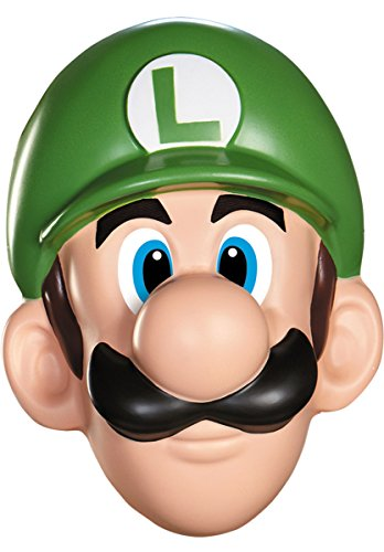 [Disguise Men's Nintendo Super Mario Bros.Luigi Adult Mask Costume Accessory, Green] (Nintendo Costumes For Adults)