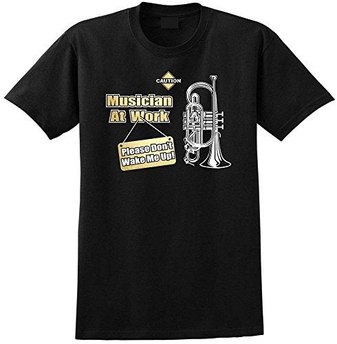 Cornet Dont Wake Me - Black Schwarz T Shirt Größe 104cm 42in Large MusicaliTee