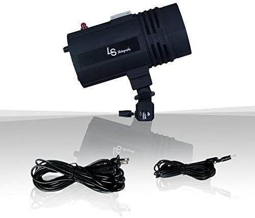 LimoStudio Flash Strobe Light 200 Watt AGG2485 Test Button Mount on Light Stand Umbrella Input Sync Cord Wireless Triggering Available Professional Photography Use Photo Studio Fuse