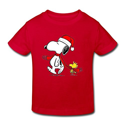 And Snoopy Halloween Costumes Charlie Brown (SHFL Little Kids Toddler Snoopy Woodstock Christmas O-Neck Baby Tees Red 5-6)