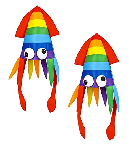 Rhode Island Novelty Unisex-Adult's Rainbow Squid Costume, used for sale  Delivered anywhere in USA