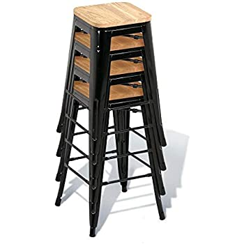 Amazon Com Go2buy 26 Quot Counter Height Bar Stools W Wood