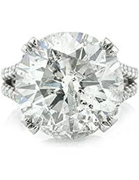 14.53ct Round Brilliant Cut Diamond Engagement Ring