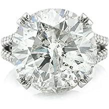 Mark Broumand 14.53ct Round Brilliant Cut Diamond Engagement Ring