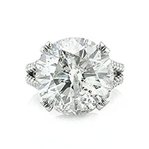 Mark Broumand 14.53ct Round Brilliant Cut Diamond Engagement Ring