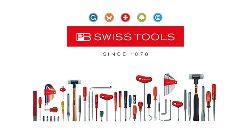 PB Swiss Tools Red Universal File Handle (80mm) for 3-4'' files