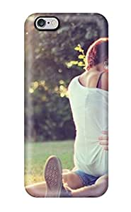 Fashion Protective Girl Kissing Boy In Park Sitting Over His Lap Very Romantic Pic Case Cover For Iphone 6 Plus