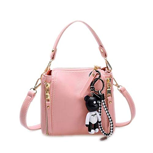 Shoulder Women Black1 Bag Bag Pink1 22cm12cm20cm Handbags Messenger 8awqtva