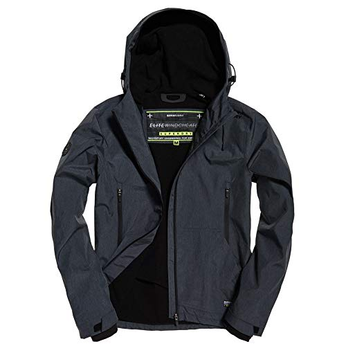 Uomo Giacca Elite Grigio Superdry Dark Windcheater Charcoal Arctic H8w5dq
