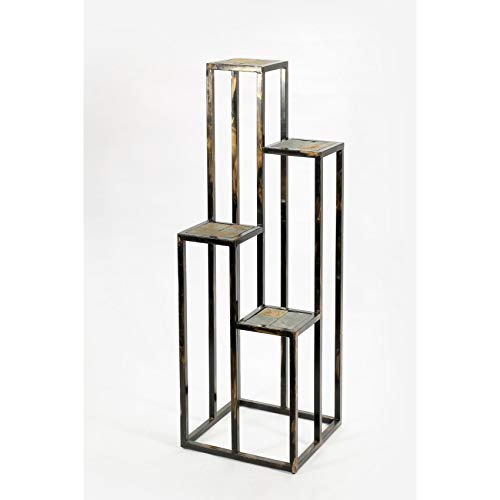ORE International LB-1714 LB-1714 Plant Stand, Black/Gold