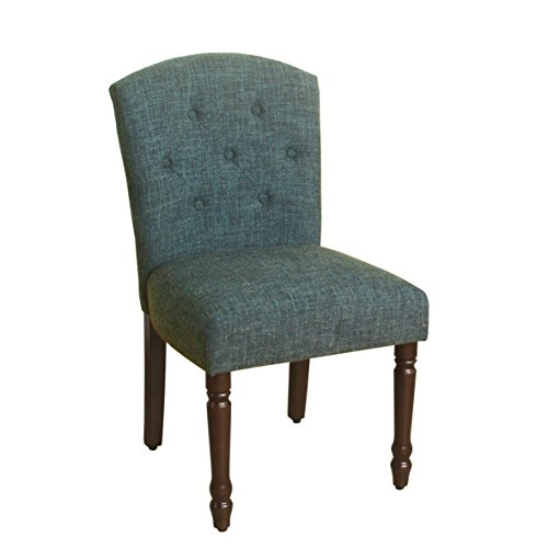 HomePop K7460-F2101 Delilah Tufted Dining Chair, Teal