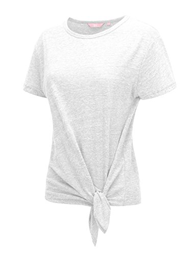 Short Sleeve Round neck Cotton Tri-blend Summer T-shirt Top (3 Style, S-3X)