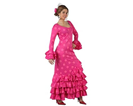 Atosa-97163 Disfraz Flamenca, color rosa, ML (97163)