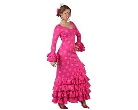 Atosa-97163 Disfraz Flamenca, color rosa, ML (97163)