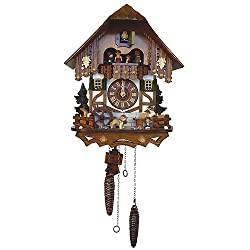 Quartz Tudor Style Black Forest House Cuckoo Clock