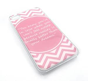 Dr. Seuss Pink Love Inspirational Quote Snap-On Cover Hard Carrying Case for iPhone 4/4S (Clear) by heywan