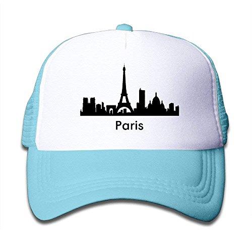 Paris City Scape Skylines Graphic Kid's Trucker Hat